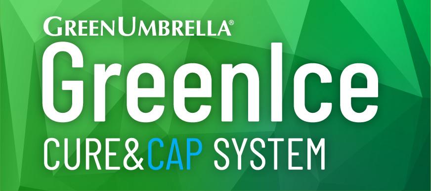 GreenIce Cure & Cap System Logo