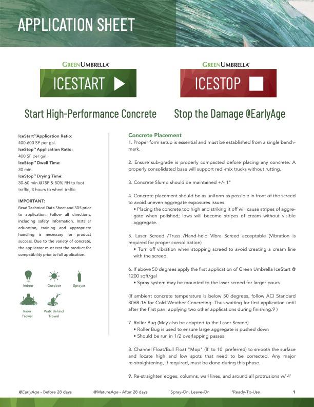 IceStart IceStop Application Sheet