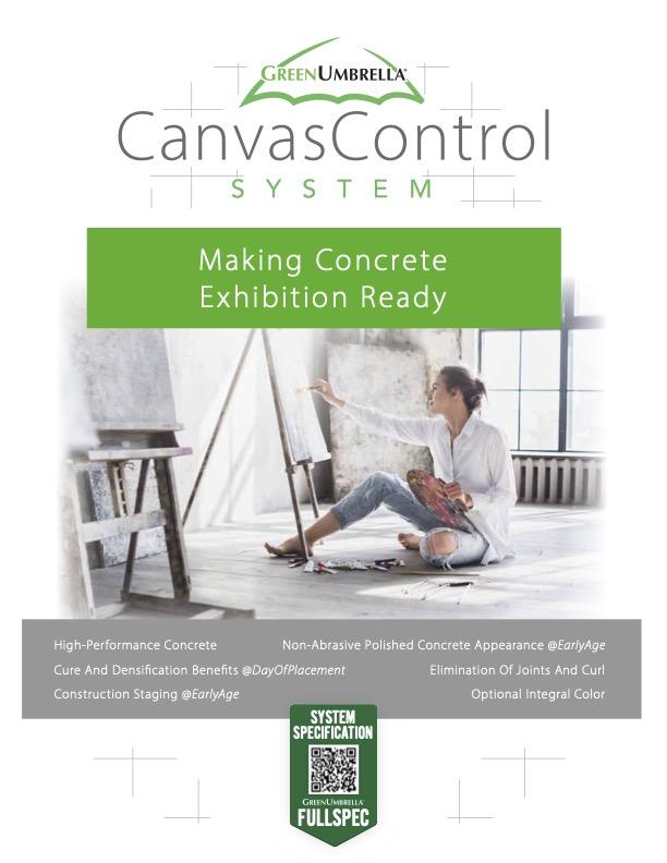 Canvas Control CutSheet